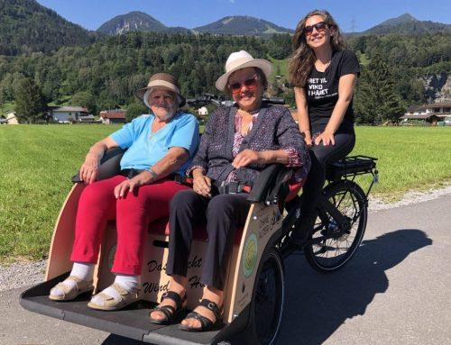 Radeln ohne Alter: Altersheim-Ausflug mit Rikscha