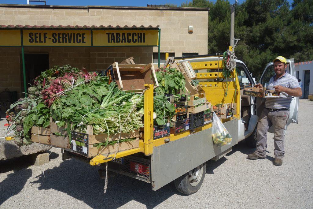 Gemüsehändler auf dem Camping La Masseria in Gallipoli