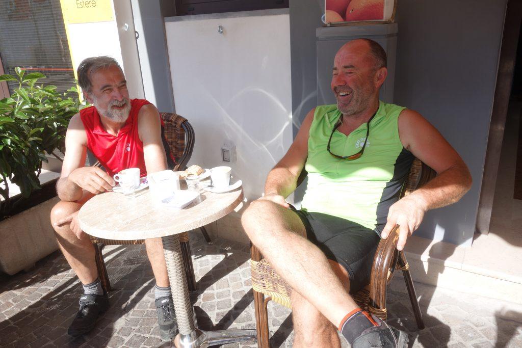 Zwei Österreicher in Peschici: Alois (links) und Franz