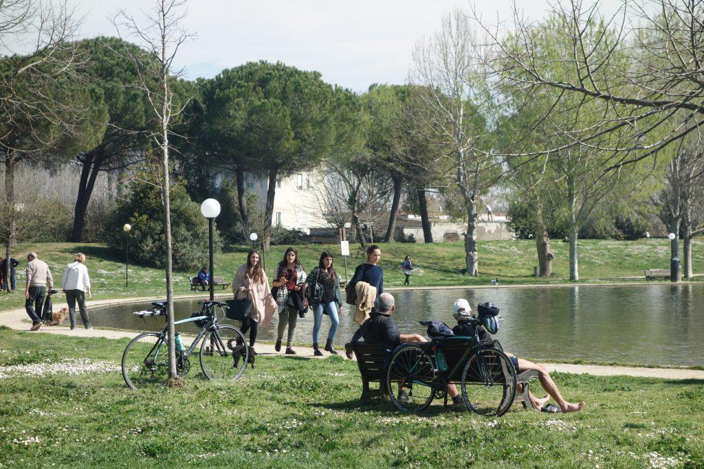 Rom, Tiber-Uferweg