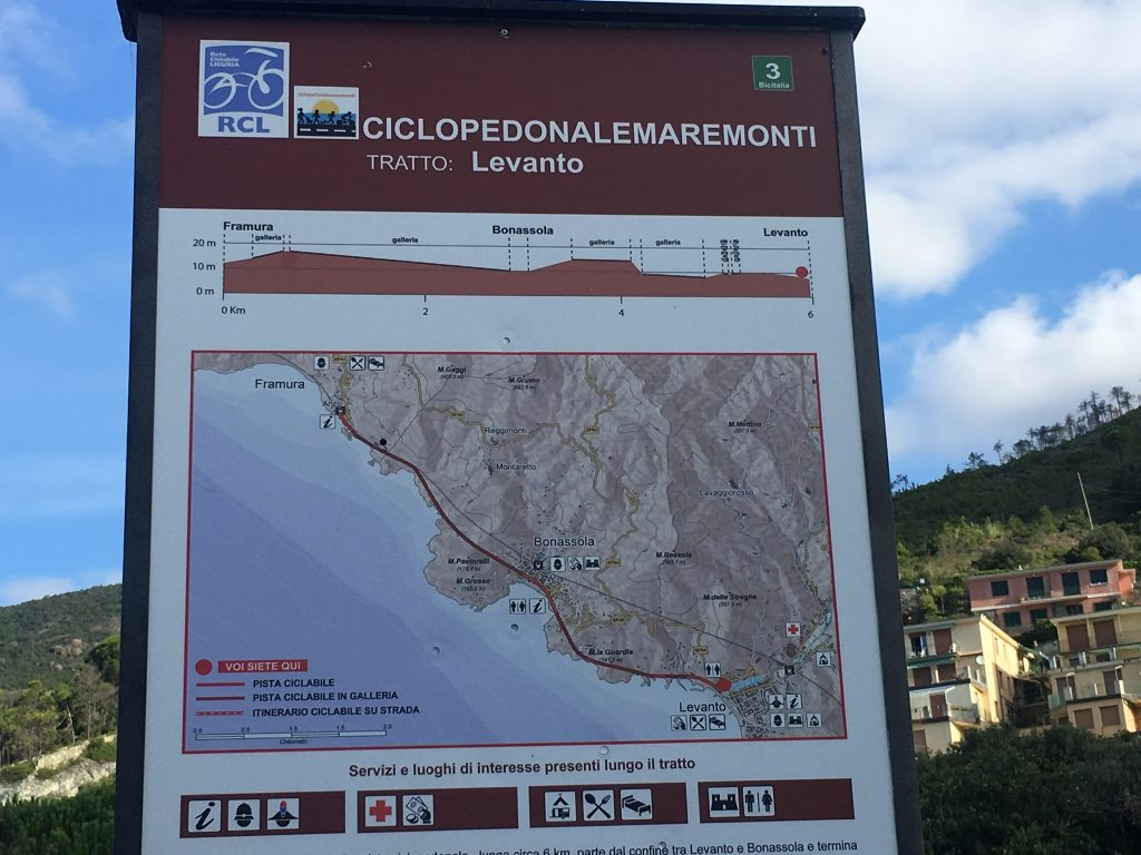 Radweg von Levanto nach Framura, Ligurien