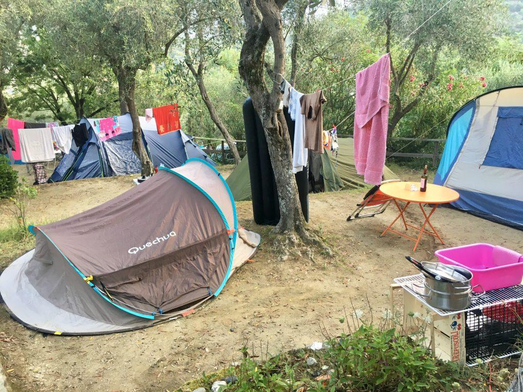Campingplatz in Levanto, Ligurien