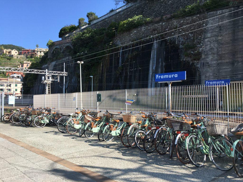 Endpunkt Radweg von Levanto nach Framura in Ligurien