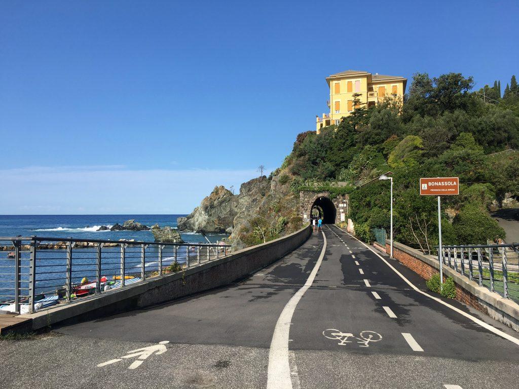 Startpunkt Radweg in Levanto