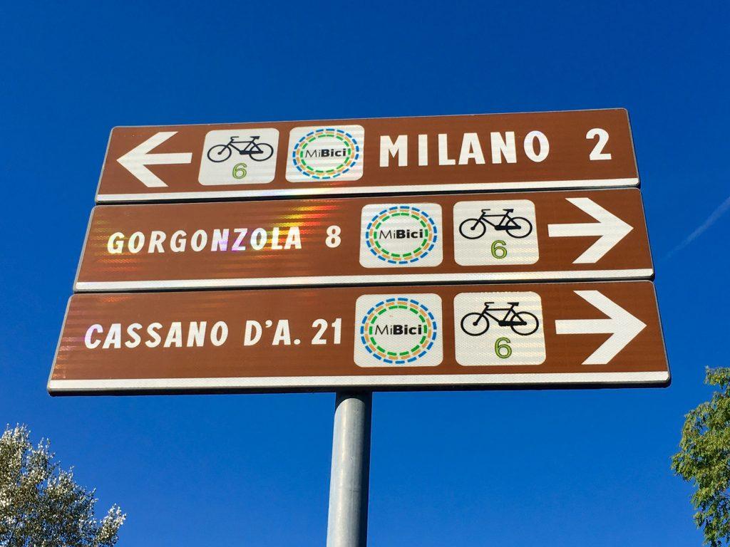Per Fahrrad in Mailand