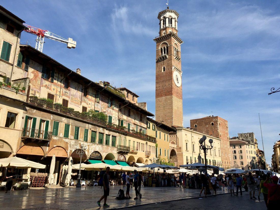 Am Etsch-Radweg in Verona