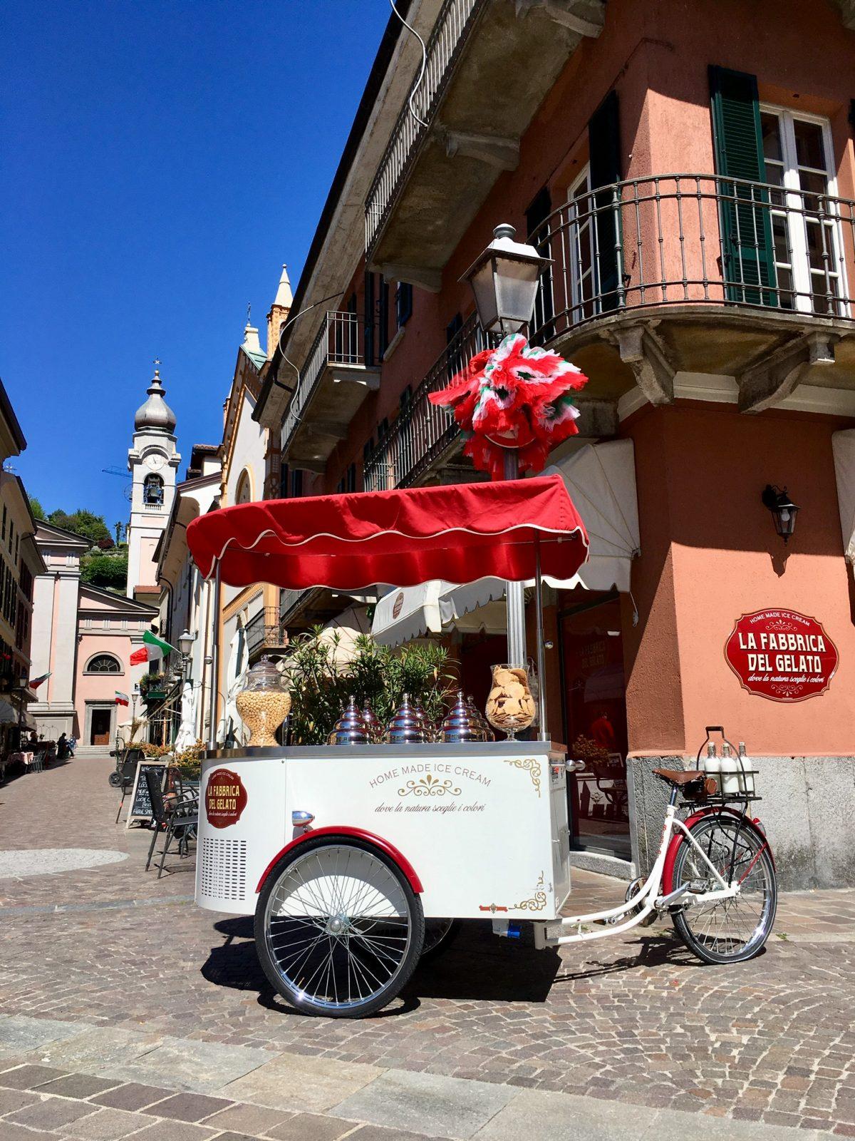 Gelato-Wagen in Menaggio