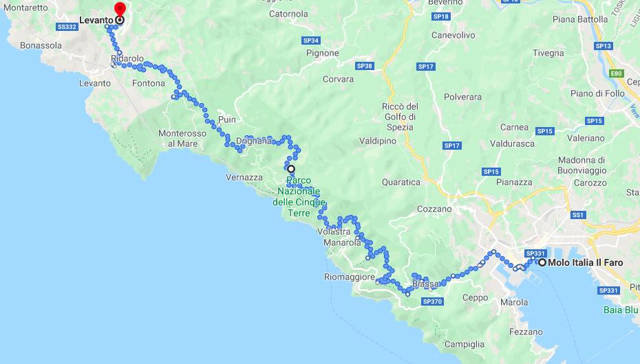 Per E-Bike oberhalb der Cinque Terre