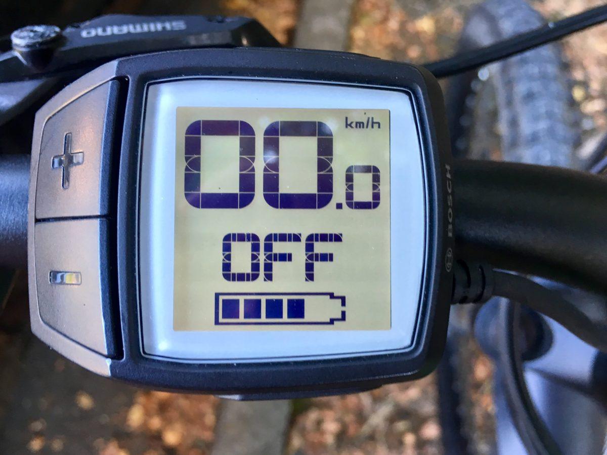 Off-Modus: keine Batterieunterstützung des E-Bikes