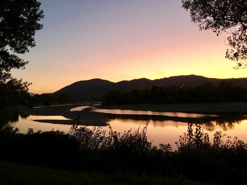 Sonnenuntergang in Rivergaro