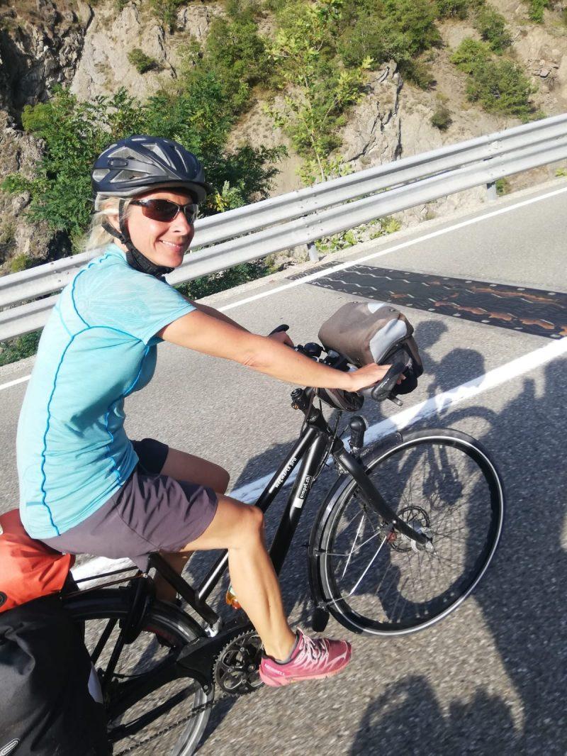 Per Fahrrad im Val Trebbia