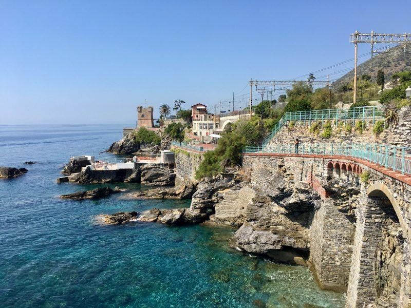 Küstenweg in Genua Nervi