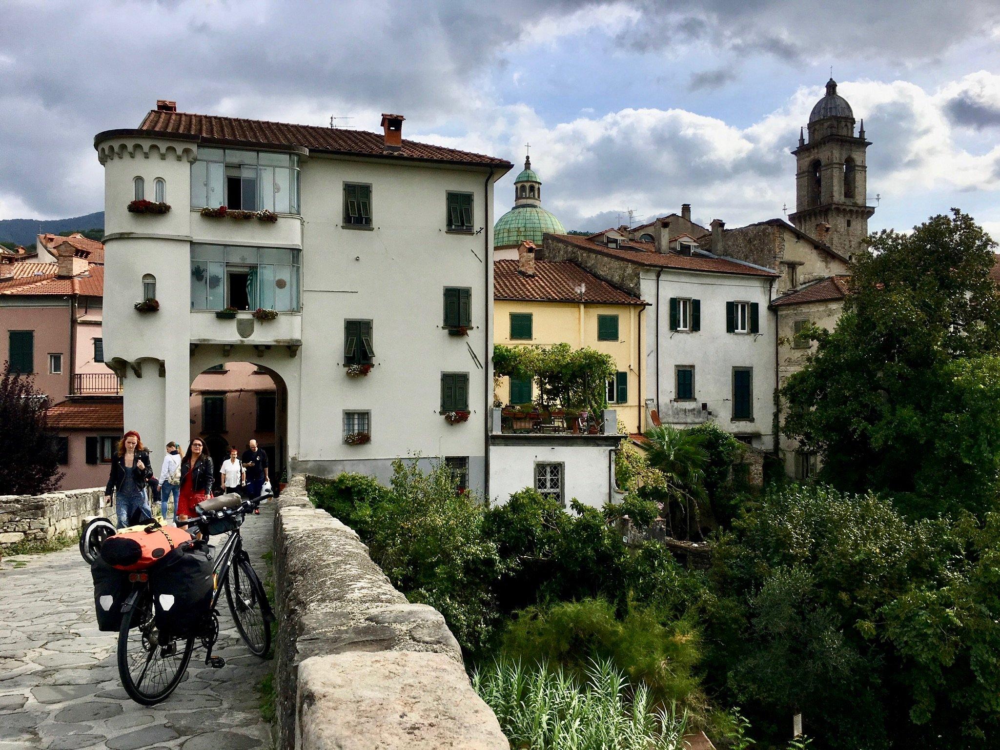 Blick auf die Altstadt von Pontremoli