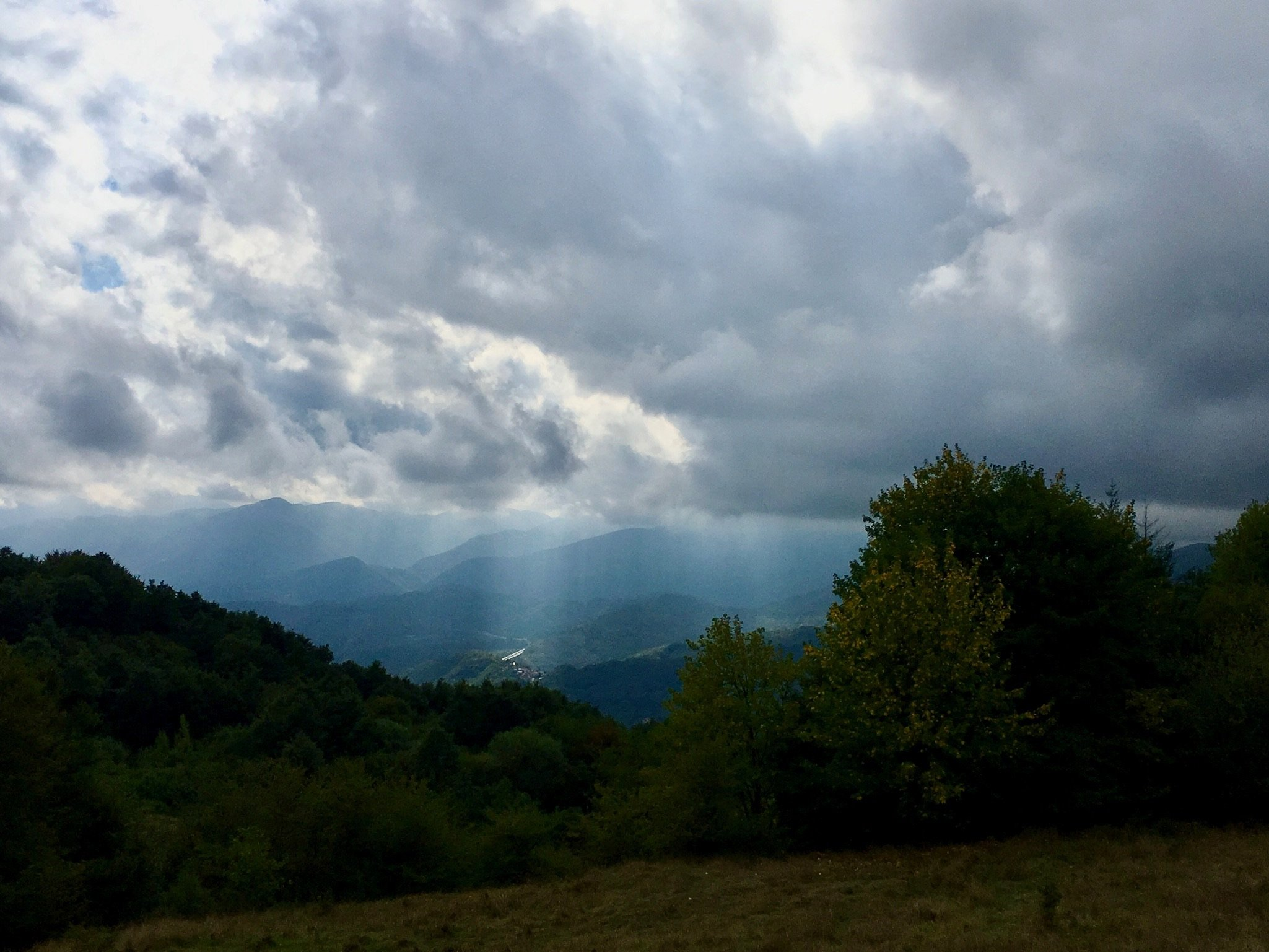 Fahrt von Pontremoli zum Passo della Cisa