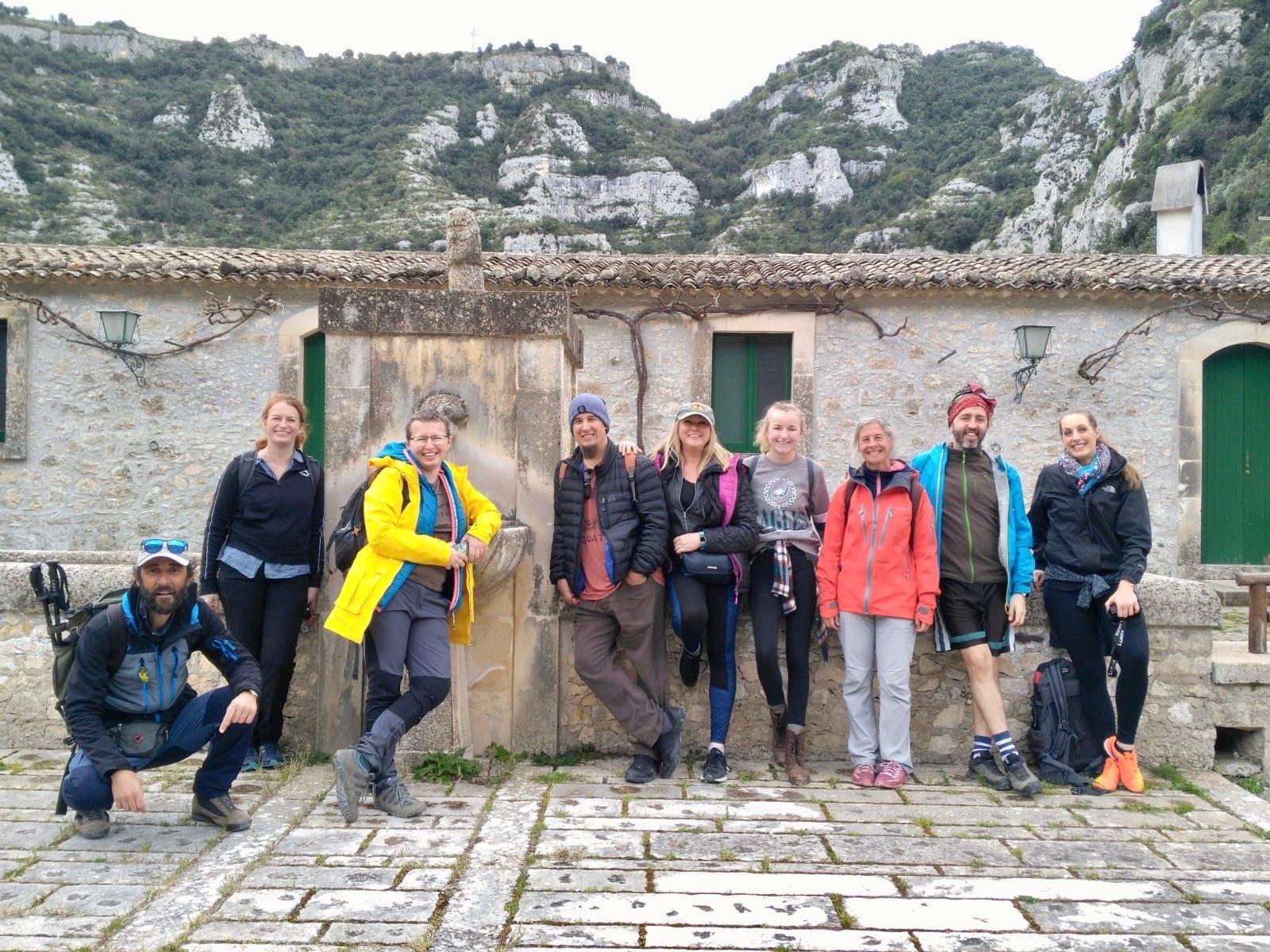 Wandern auf der Ciclabile dell'Anapo