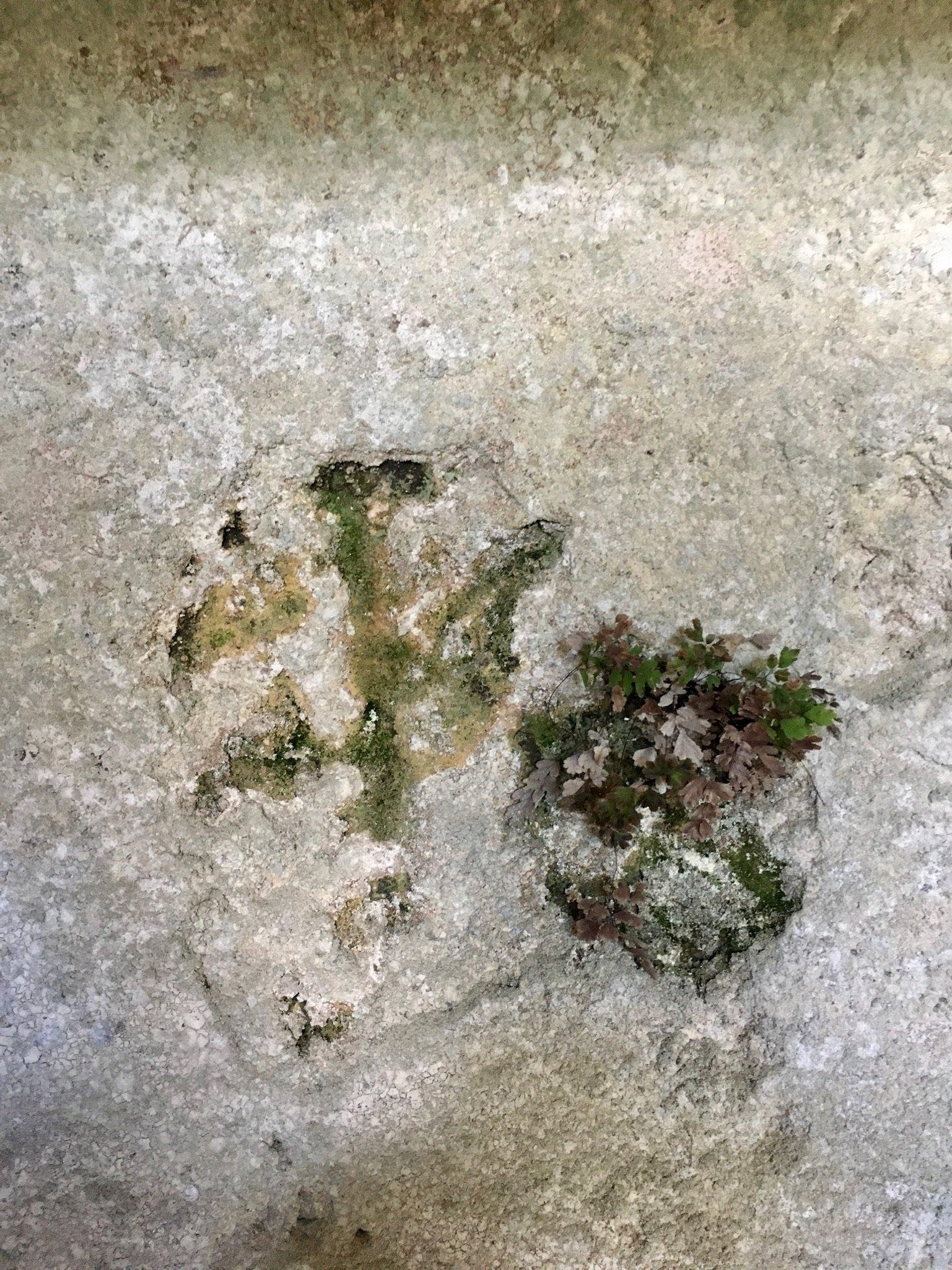 Kreuz in einem Höhlengrab