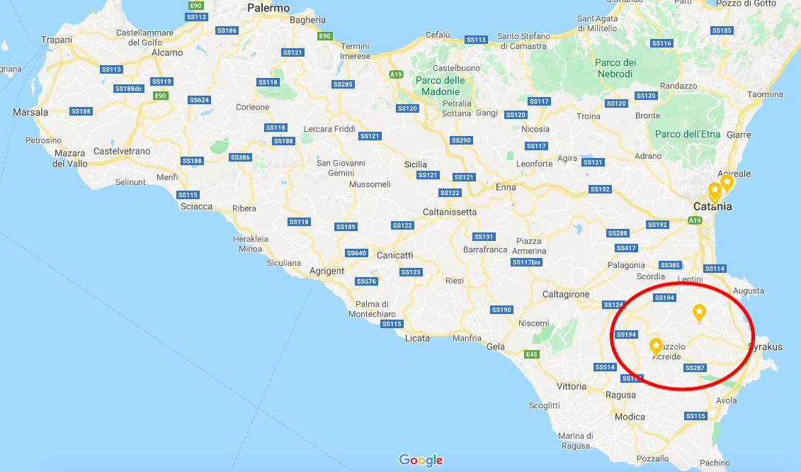 Miss Move wandert im Südosten Siziliens