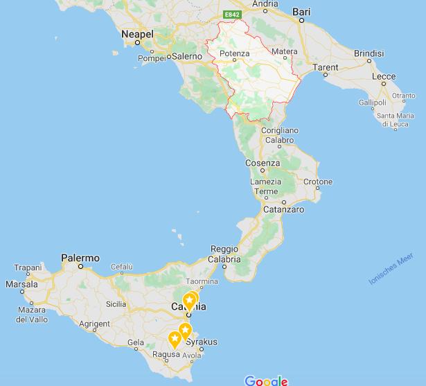 Basilicata und Süditalien
