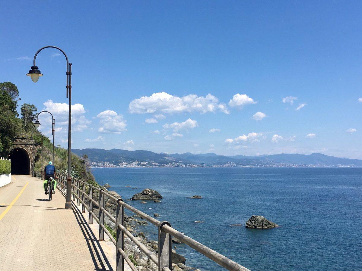 Mit dem Fahrrad durch Ligurien