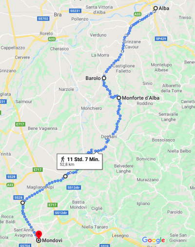 Velotour im Piemont