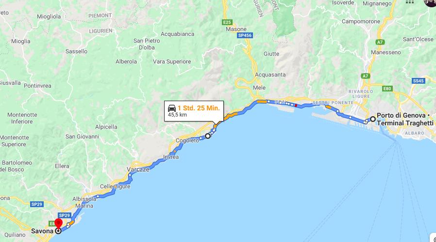 Per Fahrrad von Genua nach Savona