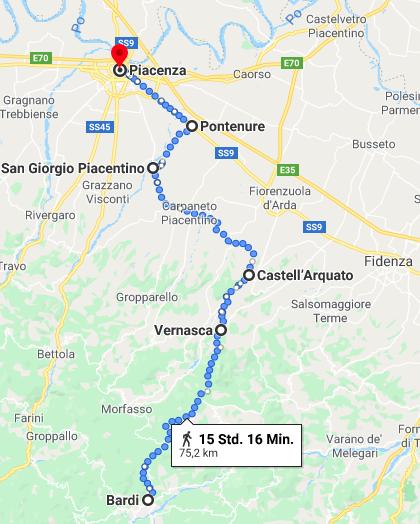 Radtour in der Emilia-Romagna