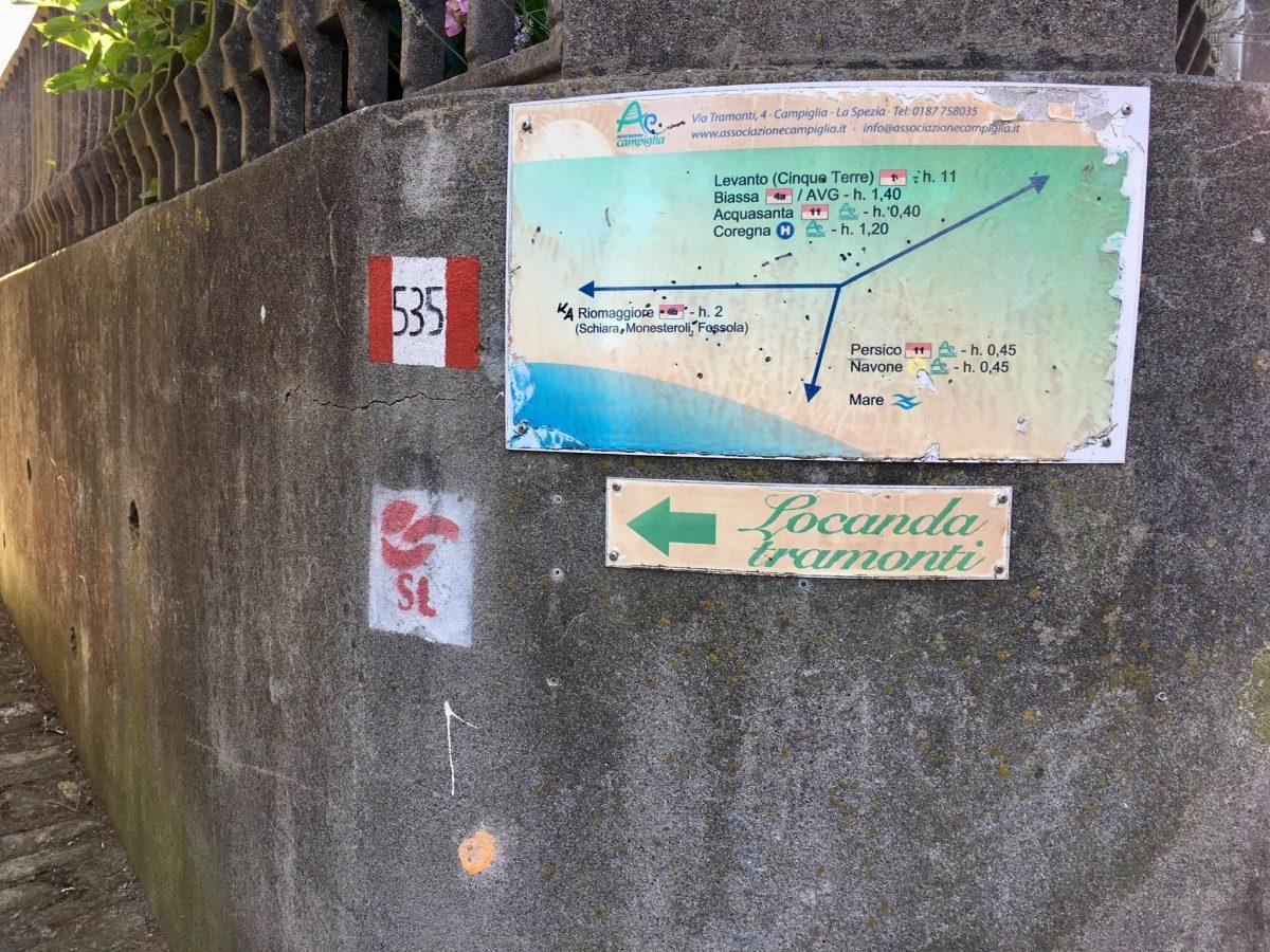 Wanderungen mit Meerblick von Campiglia aus