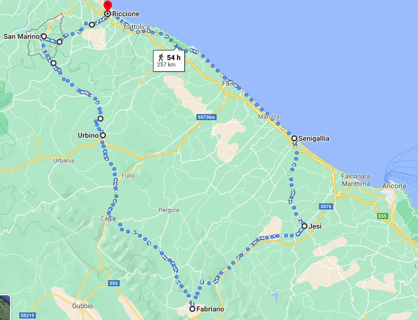 San Marino, Urbino, Fabriano