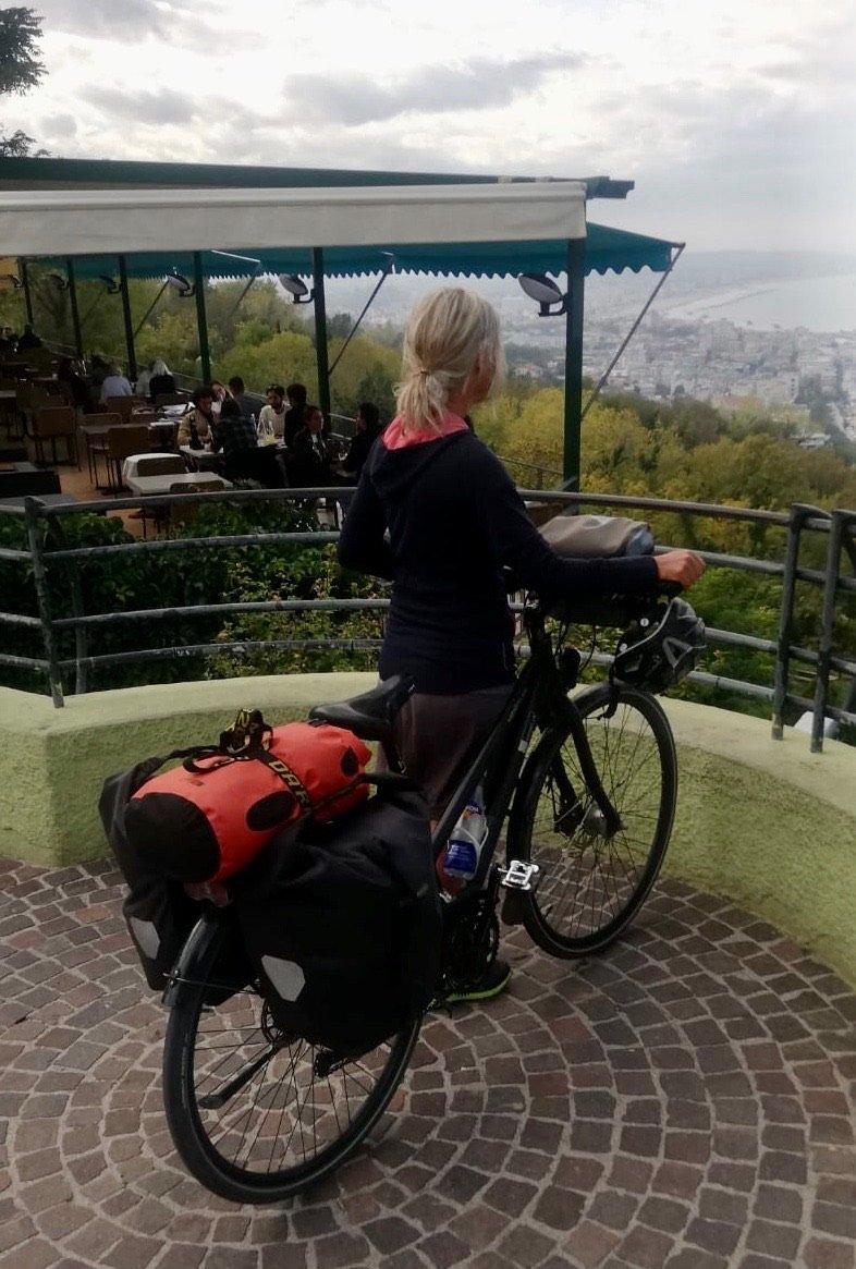 Blick auf Cattolica per Fahrrad