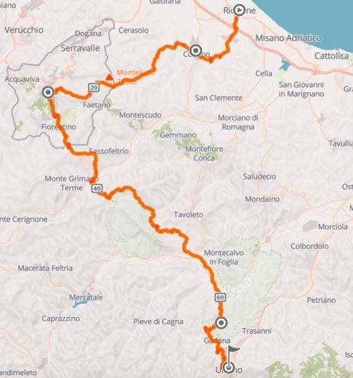 Per Fahrrad durch die Marken in Italien