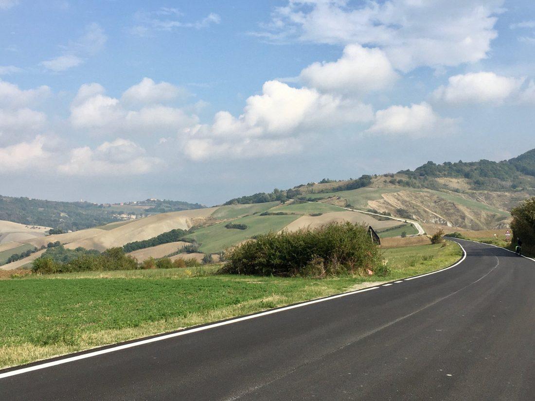 Strässchen in der Region Marche in Italien