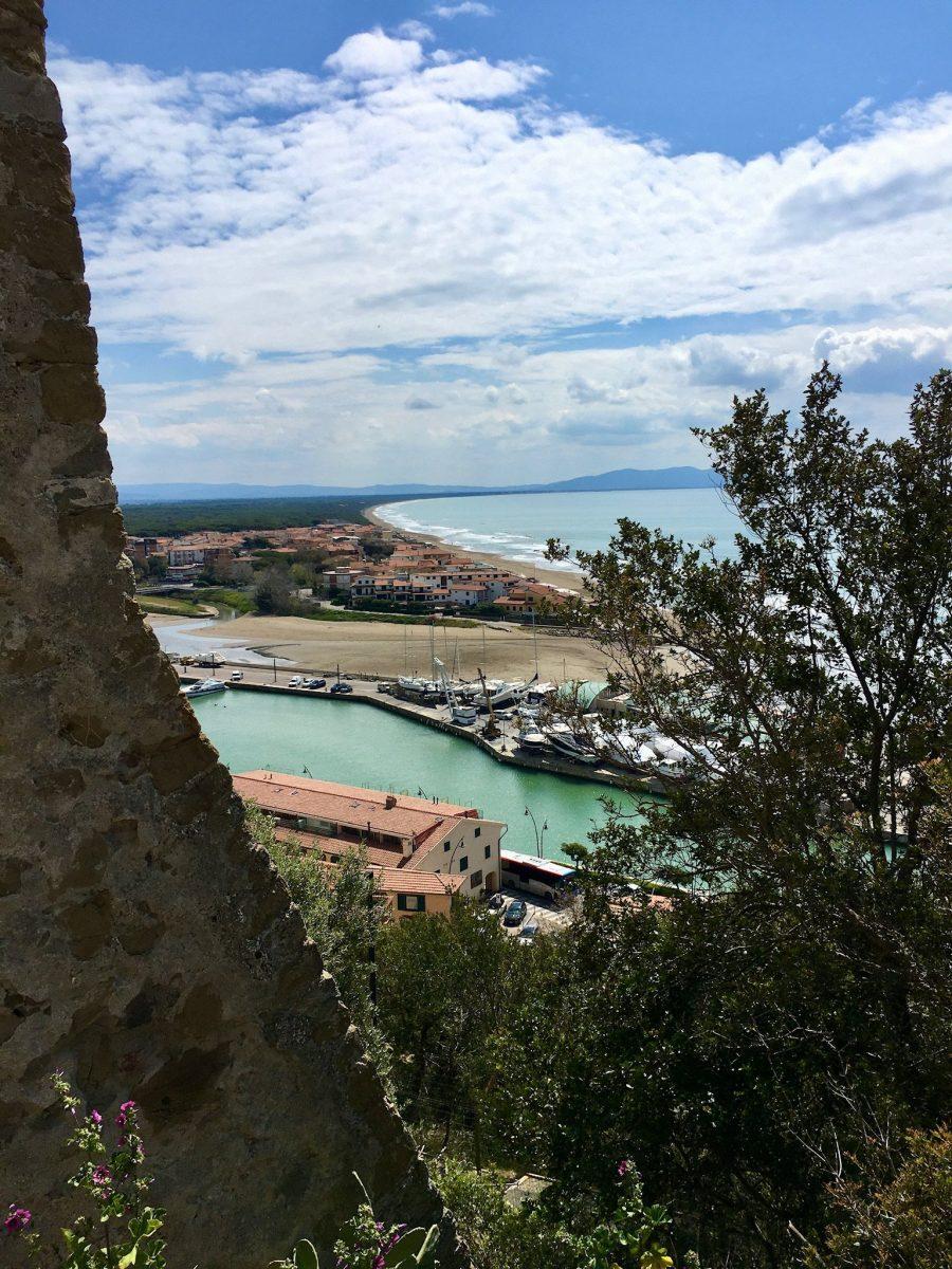 Aussicht über die Küste bei Castiglione della Pescaia