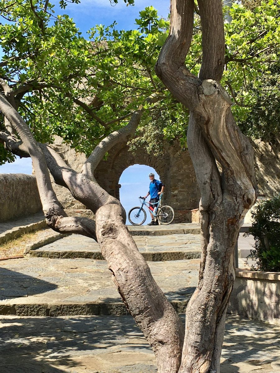 Radfahrer oberhalb von Castiglione della Pescaia